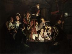 Joseph Wright of Derby - An Experiment On A Bird In The Air Pump [1768] by Gandalf's Gallery