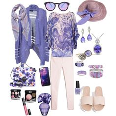 A fashion look from April 2015 featuring guess cardigan, bat sleeve blouse and white super skinny jeans. Browse and shop related looks. Purple Color Palettes, Purple Palette, Bat Sleeve, Super Skinny Jeans, Fashion Looks, Blouse, Shopping, Beauty, Blouses