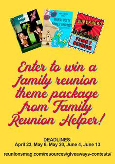 Family Reunion Themes, Giveaway, Encouragement, Reading, Reading Books