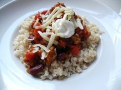Quick and Spicy Turkey Chili from CookingChannelTV.com