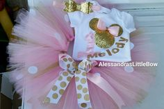 Minnie Mouse Birthday Outfit, Minnie Mouse Tutu Outfit