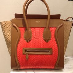 this celine is absolutely spectacular - love the colour-blocking, the colours and the textures. #bagporn