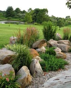 How To: Landscaping with Rocks The design of a rock garden and layout of stones . - How To: Landscaping with Rocks The design of a rock garden and layout of stones is something that e - Landscaping With Rocks, Front Yard Landscaping, Landscaping Ideas, Acreage Landscaping, Backyard Ideas, Landscaping Software, Landscaping Contractors, Natural Landscaping, Rustic Landscaping