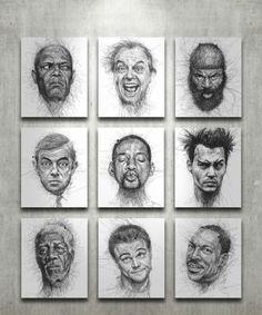 Vince Low - Scribble Drawings!