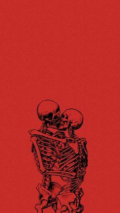 t i l l d e a t h - Wallpaper Tutorial and Ideas Dark Wallpaper, Psychedelic Art, Aesthetic Iphone Wallpaper, Skull Art, Red Aesthetic, Art, Aesthetic Wallpapers, Skeleton Art, Art Wallpaper