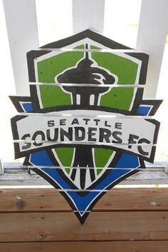 Seattle Sounders FC  sign made from recycled by MonicasFavThings