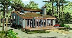 House Plan 90621 - Cabin , Contemporary , House Plan with 1352 Sq Ft, 3 Bed, 2 Bath Cottage Style House Plans, Cottage Floor Plans, Lake House Plans, House Plans And More, Cottage Plan, Best House Plans, Country House Plans, Dream House Plans, Cabin Plans