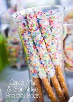 Cake Mix And Sprinkles Pretzel Rods Are SO Easy To Make All The Kids Love