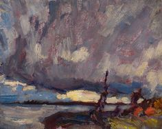 """""""Georgian Bay, After the Storm,"""" James Edward Hervey (J.) MacDonald, oil on board, 8 x private collection. Tom Thomson, Emily Carr, Group Of Seven, After The Storm, Fine Art Auctions, Canadian Art, Georgian, Oil, Board"""