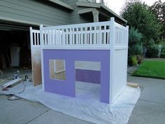 DIY Bed and Playhouse     skye would love this