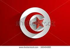 Creative Abstract Flag of Tunisia Backgroung - stock vector