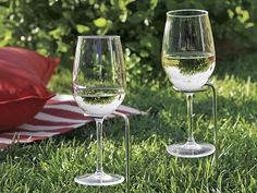 When you need to use your hands, these genius in-ground stakes hold your beverages steady. No more spills!