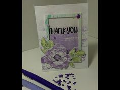 Altenew - Thank you Shaker Card - YouTube. Stamps- Beautiful day and Oriental orchid. Altenew crisp dye Inks- soft lilac, lavender fields, deep iris, frayed leaf, forest glades, and evergreen.