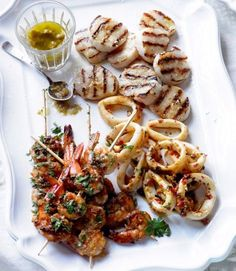 Barbecued seafood