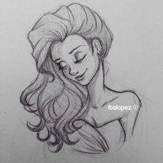 hair art // art // drawing // inspiration // illustration // artsy // sketch // hair //