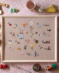 My Sweetiepie ABCs Cross Stitch Sampler Kit