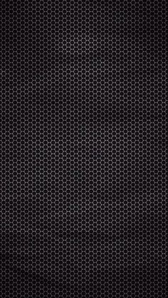 Hexagonal Dark Metallic Pattern iPhone 6 Wallpaper