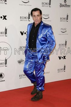 It takes balls to show up in a shiny blue suit.