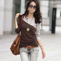 ZEARO Damen Bluse Fashion stilvolle langarm shirts Oberkleidung Tops: Amazon.de: Bekleidung