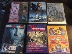 Lot Of 6 DVDs Marvel Planet 51 Three Stooges Mr Magoo