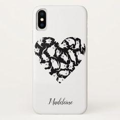 Crazy Cat Heart iPhone X Case - Saint Valentine's Day gift idea couple love girlfriend boyfriend design
