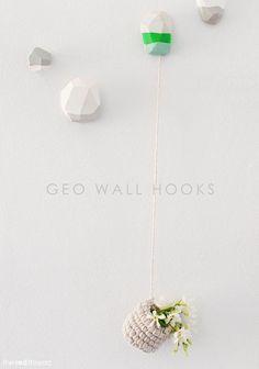 diy geo wall hooks craft tutorial