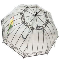 Kung Fu Smith Birdcage Clear Bubble Umbrella, Safe Manual Open & Windproof Umbrella Frame