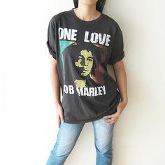 BOB MARLEY Shirt One Love TShirt Men Women T by PunkRockTshirt, $15.50