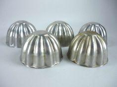 Vintage Mini Jello Molds Aluminum Individual Size by ChromaticWit, $7.49