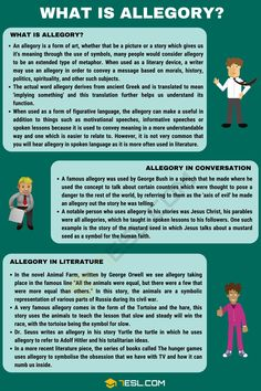 When studying the English language, you may well stumble upon the concept of allegory. Teaching English Grammar, English Writing Skills, English Vocabulary Words, Learn English Words, Writing Words, Essay Writing, Language And Literature, English Literature, Literary Terms