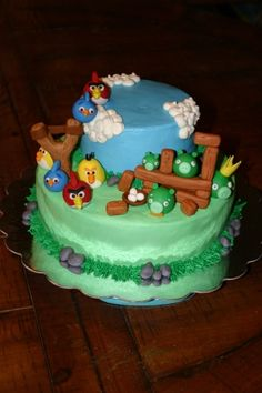 Angry Birds Cake By Higbeek99 on CakeCentral.com
