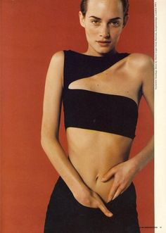 Amber Valletta, photographed by Juergen Teller, for The Undressed Issue, 1996 #90sEditorial