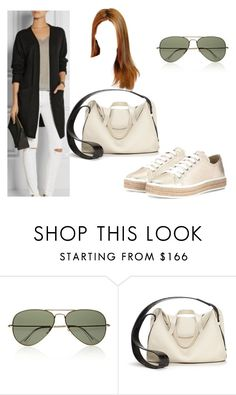 """Sem título #337"" by isabelarm ❤ liked on Polyvore featuring Ray-Ban, The Row and Miu Miu"