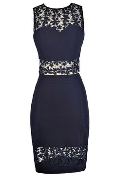#Lily Boutique - #Lily Boutique Crochet Lace Two Piece Top and Skirt in Navy - AdoreWe.com