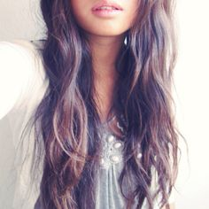 long brown wavy hair gahh why cant this be my hair? Pretty Hairstyles, Straight Hairstyles, Curly Hairstyle, Hair Mask At Home, Hair Masks, Pin Straight Hair, Brown Wavy Hair, Curling, Dream Hair
