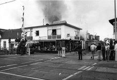 Brand in een pand achter de winkel van Jaap Post in de Nieuwstraat.