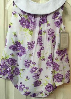 Baby Essential Girls 9 Months Soft Purple White Bubble One Piece Floral Summer  | eBay