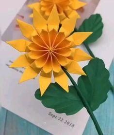 Cool Paper Crafts, Paper Flowers Craft, Paper Crafts Origami, Diy Paper, Tissue Paper, Diy Flowers, Diy Crafts Hacks, Diy Crafts For Gifts, Instruções Origami