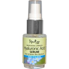 Professional Strength Hyaluronic Acid Serum. Our Highest-Potency Daily Moisture Booster!... Reviva Labs has now compounded a higher level of premium Hyaluronic Acid into a precious fluid that can help raise skin's moisture level to fill-in furrows, plump up tissues and tone-down lines.