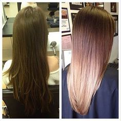Brown-to-Blonde Ombré