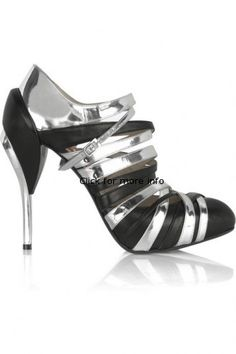 650a7479620 Black and Silver Strap Heeled Ankle Sandalsfe1b Ankle Strap Heels