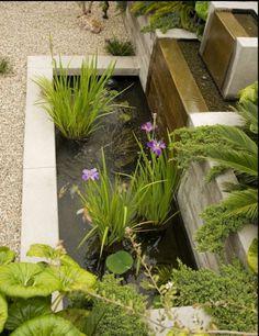 Wasserbecken Stufenkonstruktion