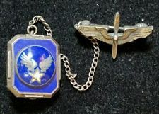Vintage WWII Sterling Silver Sweetheart Pin Army Air Corps Propeller Enameled