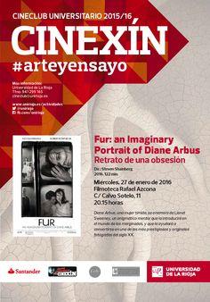 """""""Fur: An Imaginary Portrait Of Diane Arbus"""", titulada en castellano """"Retrato de una obsesión"""", de Steven Shainberg. Estados Unidos, 2006, dentro del ciclo del curso 2015/2016, dedicado al cine de #arteyensayo"""