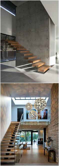 Steel staircase   moderno   escalera   seattle   de alcova ...