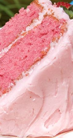 Strawberry Cake with Strawberry Cream Cheese Frosting Recipe