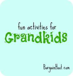 Fun ideas for the Grandchildren:: DIY toddler activities