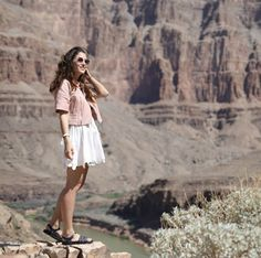 Visiting the Grand Canyon! Here wearing Chanel and Fendi
