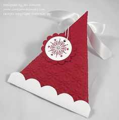 Simple & Sincere: Christmas Triangle Boxes