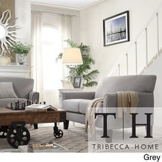 TRIBECCA HOME Uptown Peat Microfiber Suede Modern Loveseat | Overstock.com Shopping - Great Deals on Tribecca Home Sofas & Loveseats